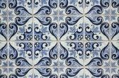 Traditional Portuguese azulejos - painted ceramic tilework stock photography