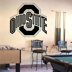 Wall Vinyl Sticker Decals Art Mural Sports Logos Ohio State Buckeyes S687. $29.99, via Etsy.