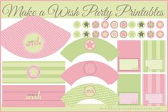 All types of FREE printables?  Make a Wish Party Printables | Peonies and Poppyseeds