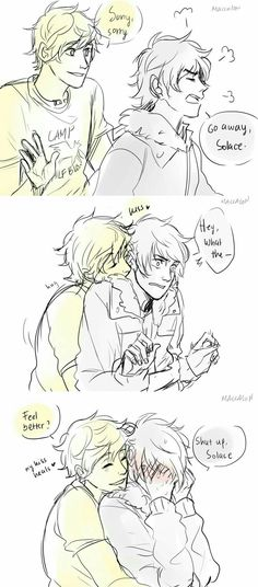Solangelo | so sweet. Don't be mad, Nico :-D
