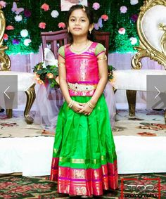 Kids lehenga from bhargavi kunam