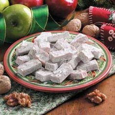 Chewy Apple Candies Recipe (My kids liked it with the sugar and vanilla left out.)