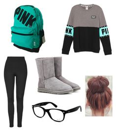 """""""Untitled #50"""" by cool-ostrich ❤ liked on Polyvore featuring Topshop, UGG Australia, Ray-Ban, women's clothing, women's fashion, women, female, woman, misses and juniors"""