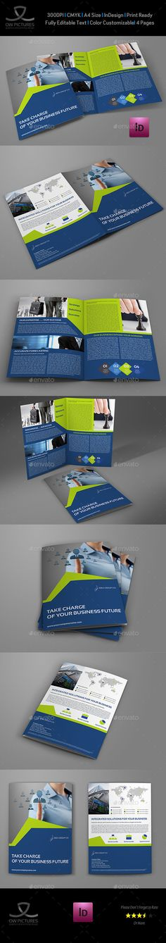 Fitness - GYM Bi-Fold Brochure Template - Gym Brochure Templates