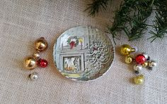 Johnson Brothers CHRISTMAS PLATE Small Collectible English Christmas China Plate Fine English China Dish Holiday Decor by RandomAmazing on Etsy