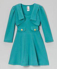 Another great find on #zulily! Jade A-Line Dress & Bolero - Girls by Just Kids #zulilyfinds