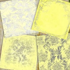 Lemon Ice Grungy Yellow and Silver Digital by pinkpearlstudio