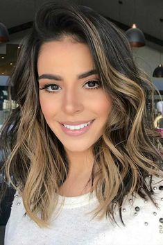 #Color Trendy Hair Color : Highlighted hair is really glamorous whether it is ombre, sombre, or balayage. W...