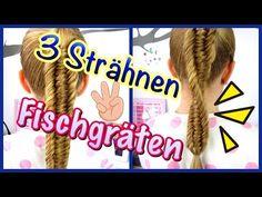 3 Strähnen Fischgräten Zopf DNA Zopf Spiralzopf coole Mädchen Zöpfe&Frisuren - YouTube