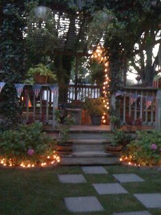Backyard Entertaining Area