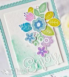 Cards of Pinterest...Floral Multistep stamps on Pinterest   Flower ...