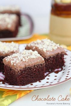 Light, fluffy and delicate chocolate buttermilk sheet cake topped with a ridiculously simple chocolate frosting and finely chopped nuts.