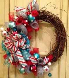 burlap funky bow wreath - Google Search