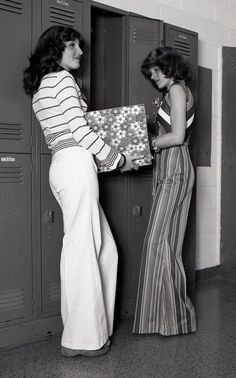 High school students in the 70's