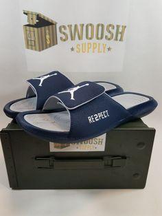1010147d4cf3e7 Nike Air Jordan Hydro 6 RE2PECT Size 11 Sandals Slide Jeter College Navy NEW