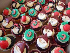 Mini-cupcakes Branca de Neve e os 7 Anões
