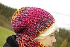 Čiapky - jesenné maliny:) čiapka k nákrčníku babušníku - 7348420_