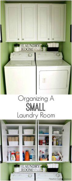 Organizing A Small Laundry Room Tips ~ Newton Custom Interiors @jannanewton