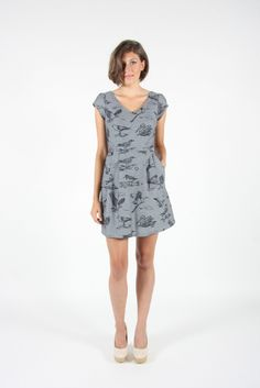 Fashion Line, Spring Summer 2015, Frocks, North America, Canada, Birds, Shirt Dress, Shopping, Dresses