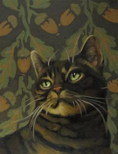 """""""Among the Acorns brown stiped cat"""" by Diane Hoeptner"""