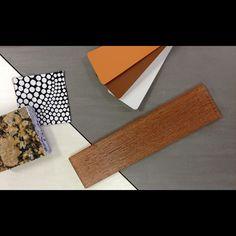Check out our latest combination of Glass tile, porcelain tile, fabric, paint, granite . . . #TileSensations
