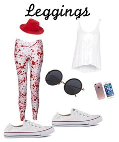 """""""Leggings"""" by hotval509 on Polyvore featuring Converse and rag & bone"""