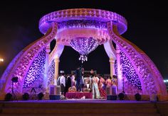 "Photo from album ""Portfolio"" posted by wedding planner Namaste India Events Wedding Backdrop Design, Wedding Stage Design, Wedding Hall Decorations, Marriage Decoration, Backdrop Decorations, Flower Decorations, Namaste India, Namaste Art, Namaste Yoga"