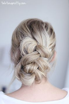 This easy braided updo will blow your mind! If you need to pull a look together fast, come checkout this tutorial and see how gorgeous this braid is!