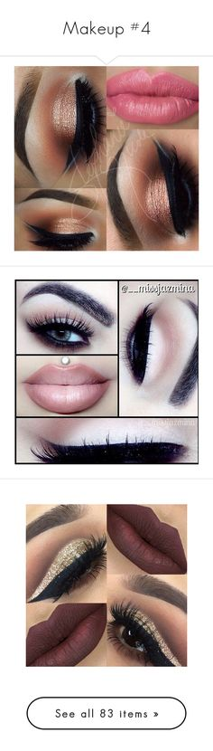 """Makeup #4"" by classychica237 ❤ liked on Polyvore featuring beauty products, makeup, eye makeup, eyes, lips, makeup/nails, lip makeup, lipstick, eyeshadow and palette eyeshadow"