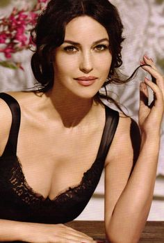 Monica Bellucci. Glorya: I love this model who works for Dolce and Gabban. She is absolutely beautiful in a natural way.