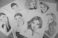 Sketches for Nylon Magazine ⓒ Madame Lolina