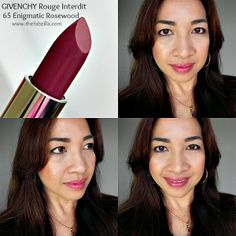 Givenchy Rouge Interdit Lipstick 65 Enigmatic Rosewood: Review, Swatch, FOTD #givenchy #lovelippy www.thefabzilla.com @Kath TheFabzilla