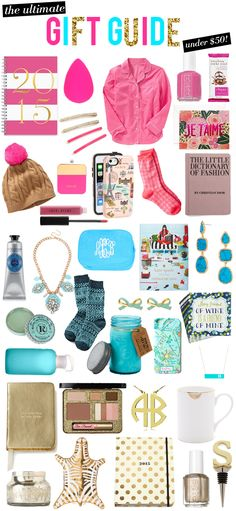 The Ultimate (Colorful) Christmas Gift Guide (everything's under $50)!