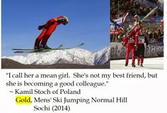 Kamil Stoch on the Russki Gorki Ski Jump