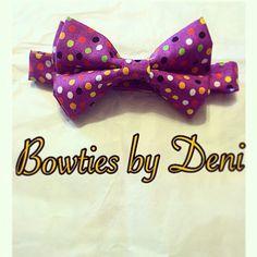 Purple multi-colored bowtie!