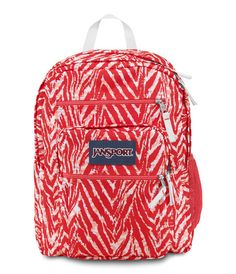 Jansport Big Student Backpack - Coral Peaches Wild at Heart Available at www.canadaluggagedepot.ca