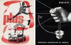 Herbert Matter (1938); A.M. Cassandre (1938), via Flickr.