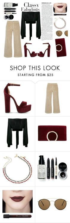 """""""CLASSY VELVET"""" by widyashridian on Polyvore featuring Steve Madden, The Seafarer, Yves Saint Laurent, Jessica McClintock, INC International Concepts, Bobbi Brown Cosmetics and Ray-Ban"""