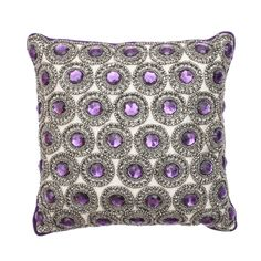 Long Purple Bolster Pillow Cover Purple Pillow By