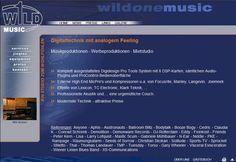 wildonemusic.com 2004 Konzept, Homepage und Redaktionssystem. Design: Angela Steinmötzger Audio, I Have Done, Design, Editorial Board, Concept
