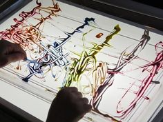 Mixing up lines on the light table - Deborah J. Stewrat at Sixty Second Parent