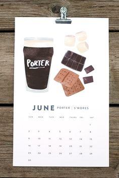 my two favorite things in one calendar 2013 beer/food calendar by red cruiser