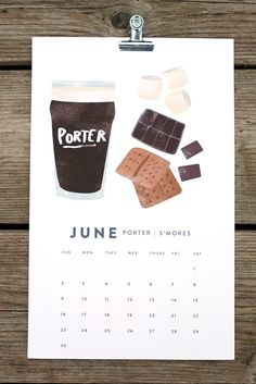 BEER/FOOD 2013 calendar {via miss moss}