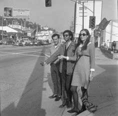Hitchhiking on the Sunset Strip, Los Angeles, 1966.
