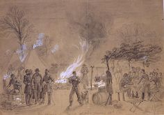 """thecivilwarparlor:  Sketch of Thanksgivingin camp of General Louis Blenker during the US Civil War on Thursday November 28th 1861. Thanksgiving, orThanksgiving Day, is a holiday celebrated in the United States on the fourth Thursday in November. It has been an annual tradition since 1863, when, during the Civil War, President Abraham Lincolnproclaimed a national day of """"Thanksgiving and Praise to our beneficent Father who dwelleth in the Heavens"""", to be celebrated on Thursday, November…"""