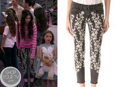 See Dad Run: Season 2 Episode 3 Emily's Black Floral Print Jeans