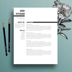 Professional Resume Template, Cover Letter Template, References Template, MS Word, Creative Resume T Creative Cover Letter, Cover Letter For Resume, Cover Letter Template, Letter Templates, Cover Letter Design, Creative Cv Template, Free Resume Examples, Cv Resume Template, Resume Cv