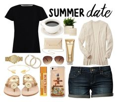 """""""smokin' hot:summer date"""" by a-hidden-secret ❤ liked on Polyvore featuring ESPRIT, Zimmermann, Elizabeth Arden, Charlotte Russe, Ashley Stewart, Lord & Taylor, Jack Rogers and Michael Kors"""