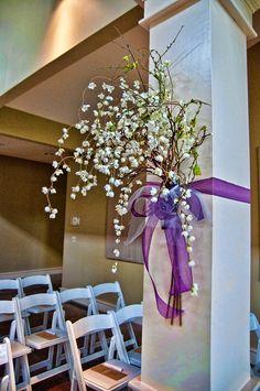 Decorating for the indoor wedding.  Wedding are so special at Old Kinderhook Golf Resort.  www.oldkinderhook.com