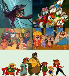 Darkwing Duck, Duck Tales, Gummi Bears, Chip n Dale Rescue Rangers, Tale Spin. loved these cartoons! Good Cartoons, Old School Cartoons, 90s Cartoons, Classic Cartoons, Disney Cartoons, Funny Cartoon Pictures, Cartoon Photo, Disney Pictures, 3d Cartoon